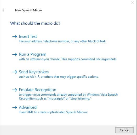 JARVIS Software - New Speech Macro