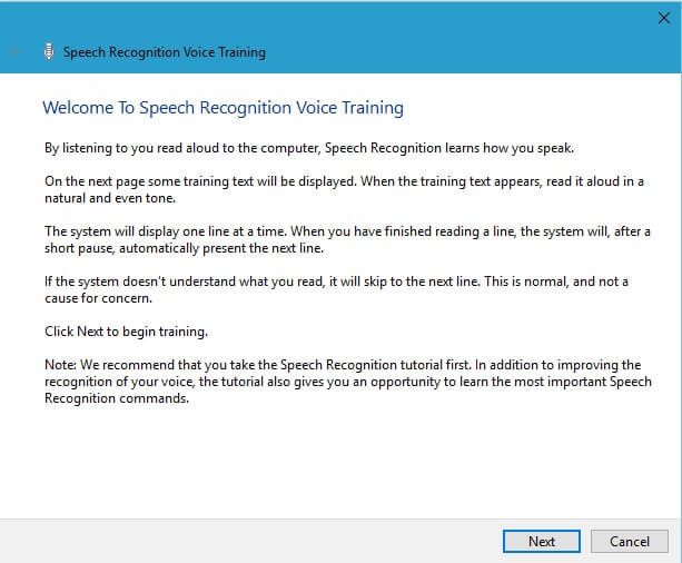 JARVIS Software - Speech Recognition Training