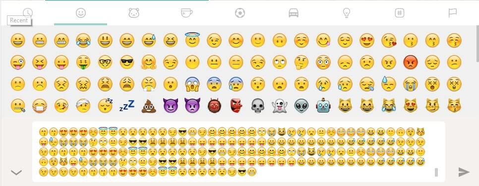 WhatsApp Tricks - Bombard Emoji