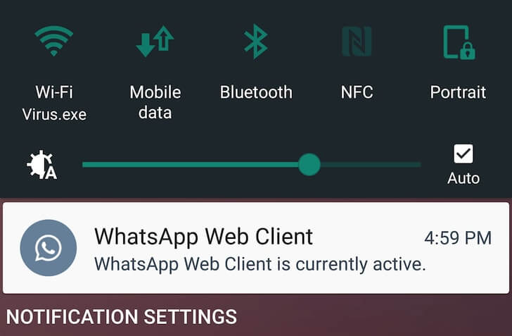 WhatsApp Tricks - WhatsApp Web Notification