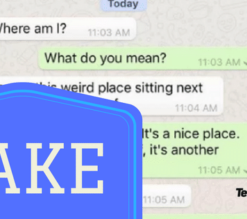 Fake WhatsApp Conversations