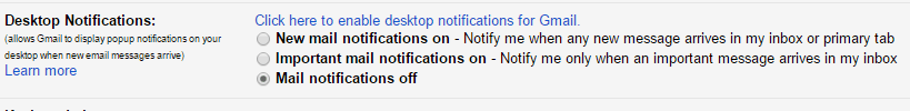 Gmail Desktop Notifications - Enable Gmail Settings